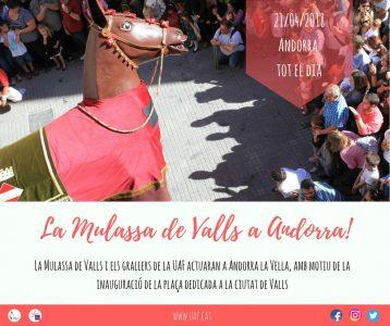 La Mulassa de Valls a Andorra @ Andorra la Vella | Andorra