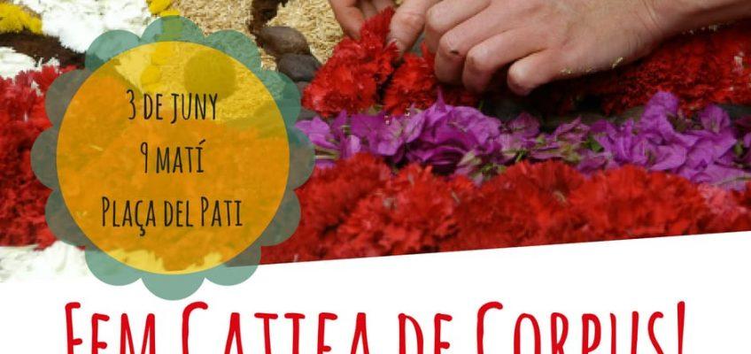 La catifa floral de Corpus de la Unió Anelles de la Flama