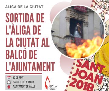 Sortida de l'Àliga al balcó de l'Ajuntament @ Ajuntament de Valls | Valls | Catalunya | Espanya