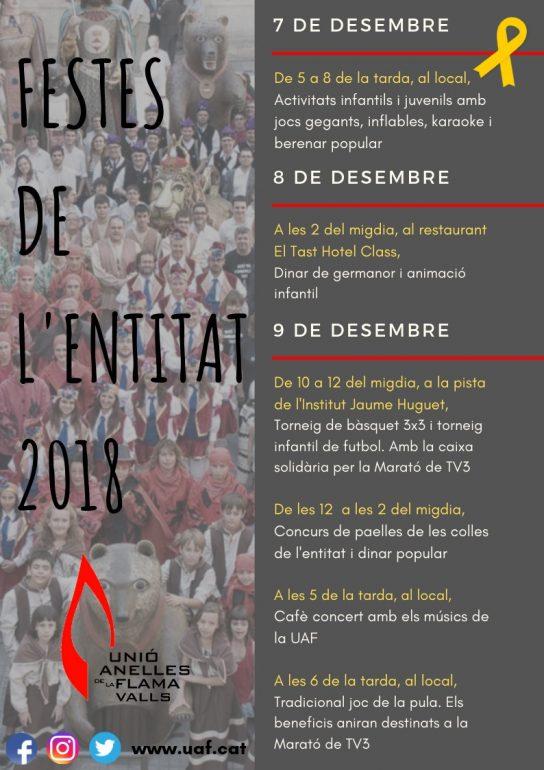 Festes de la Unió Anelles de la Flama 2018