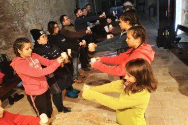 La Moixiganga de Valls prepara la representació per la Mare de Déu de la Candela amb una estada a Querol.