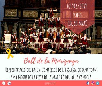 Representació del ball de la Moixiganga de Valls amb motiu de la Mare de Déu de la Candela @ Església de Sant Joan | Valls | Catalunya | Espanya