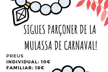 Sigues parçoner de la Mulassa de Carnaval