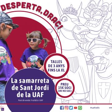 Desperta, Drac!, la samarreta de Sant Jordi de la UAF