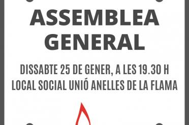 Assemblea general ordinària 2020 Unió Anelles de la Flama