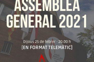 Assemblea general ordinària 2021 Unió Anelles de la Flama